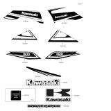 KAWASAKI, KVF300CEF 2014,KVF300CFF 2015,KVF300CGF 2016,KVF300CHF 2017,KVF300CJF 2018, AUFKLEBER(GRÜN)