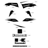 KAWASAKI, KVF300CEF 2014,KVF300CFF 2015,KVF300CGF 2016,KVF300CHF 2017,KVF300CJF 2018, AUFKLEBER(WEISS)(EU)