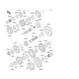 KAWASAKI, ZX600-E10 2002,ZX600-E11 2003,ZX600-E12 2004,ZX600-E13 2005, ANTRIEB