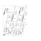 KAWASAKI, KLX400-A1 2003,KLX400-A2 2004, VORDERGABEL