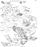 KAWASAKI, ZX1400B6F 2006,ZX1400B7F 2007, BENZINTANK(1/2)
