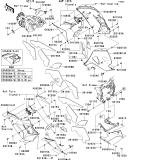 KAWASAKI, ZX1400B6F 2006,ZX1400B7F 2007, VERKLEIDUNG UNTER