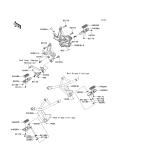KAWASAKI, KLE650CBF 2011,KLE650CCF 2012,KLE650CDF 2013,KLE650CEF 2014, FUSSRASTE