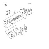 KAWASAKI, ZX550-A1 1984,ZX550-A2 1985,ZX550-A3 1986,ZX550-A4 1987,ZX550-A5 1988, GANGSCHALTUNG/SCHALTGABEL