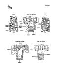 KAWASAKI, ZX550-A1 1984,ZX550-A2 1985,ZX550-A3 1986,ZX550-A4 1987,ZX550-A5 1988, KURBELGEHÄUSE/SCHRAUBENSCHEMA