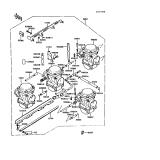 KAWASAKI, ZX550-A1 1984,ZX550-A2 1985,ZX550-A3 1986,ZX550-A4 1987,ZX550-A5 1988, VERGASER