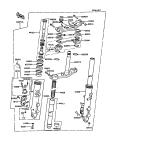 KAWASAKI, ZX550-A1 1984,ZX550-A2 1985,ZX550-A3 1986,ZX550-A4 1987,ZX550-A5 1988, VORDERGABEL