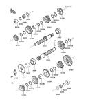 KAWASAKI, ZX600-C1 1988,ZX600-C2 1989,ZX600-C3 1990, ANTRIEB