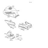 KAWASAKI, ZX600-C1 1988,ZX600-C2 1989,ZX600-C3 1990, AUFKLEBER(WEISS/GRAU)