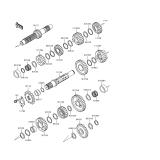 KAWASAKI, KL650-A10 1996,KL650-A11 1997,KL650-A12 1998,KL650-A13 1999,KL650-A14 2000, ANTRIEB(-KL650AE032209)