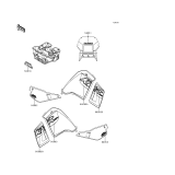KAWASAKI, KL650-A10 1996,KL650-A11 1997,KL650-A12 1998,KL650-A13 1999,KL650-A14 2000, AUFKLEBER(GRÜN)